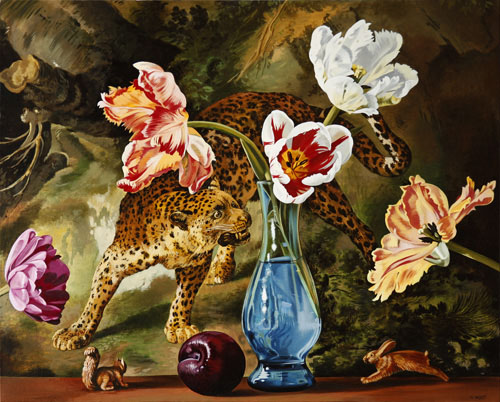 Tulips with Leopard